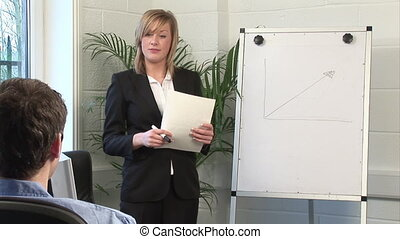 Business Woman Giving A presentation - Stock Video Footage...
