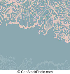 Decorative element border. Abstract invitation card....