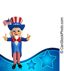 Uncle Sam - 3d rendered illustration of Uncle Sam
