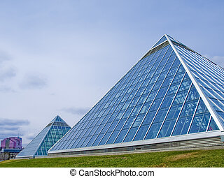 Glass Pyramid - The Muttart Conservatory in Edmonton,...
