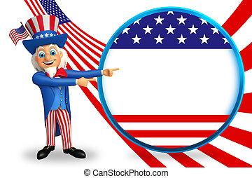 Uncle Sam - 3d rendered illustration of Uncle Sam