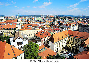 Brno panorama - Cityscape of Brno city in the sunshine day,...