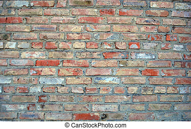 brick fence - fence of different clay brick