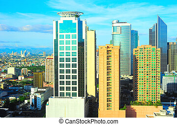 Makati, Metro Manila - View of Makati city - modern...