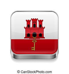 Metal  icon of Gibraltar