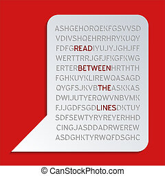 Read between the lines - Reading between the lines –...