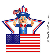 Uncle Sam with best sign - 3d rendered illustration of Uncle...