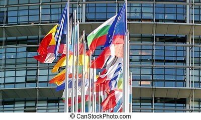 All EU countries flags - European Union countries flags with...