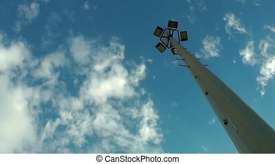 Light Pole and Clouds Time Lapse