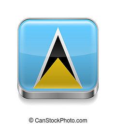 Metal  icon of Saint Lucia