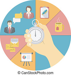 Time Management Concept - Conceptual illustration of the...