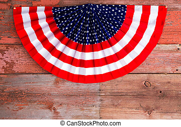 USA 4th of July patriotic rosette