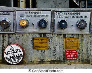 Standpipes - Old standpipes for emergency services