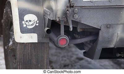 death Exhaust fumes - Exhaust pipe and skull close to Loop...