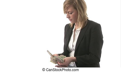 A business woman with Money - Stock Video Footage of a...