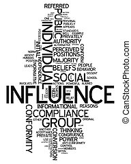 Word Cloud Influence - Word Cloud with Influence related...