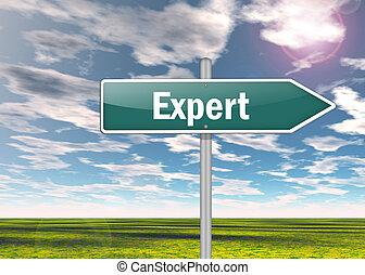 Poste indicador, experto