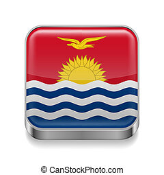 Metal  icon of Kiribati