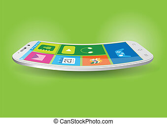 Modern Touchscreen Curved Mobile