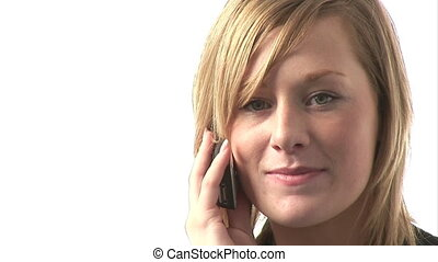 Business Woman Talking on Phone - Stock Video Footage of a...