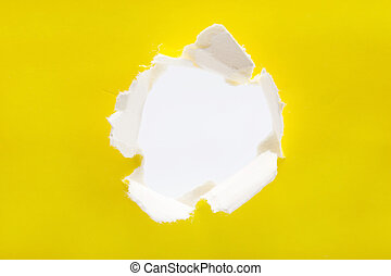 paper torn outside white paper