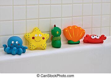 Bath Toys - Colourful Bath toys - octopus, starfish,...