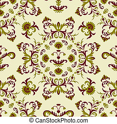 Vector Seamless Pattern - vector seamless floral pattern,...