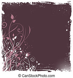 floral grunge - Abstract floral grunge background