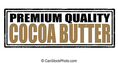 Cocoa butter - Stamp with text cocoa butter inside, vector...