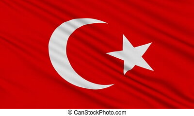 Turkish flag, with real structure of a fabric