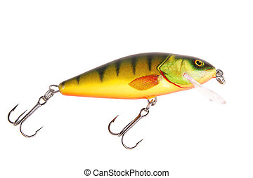 Fishing bait wobbler isolated on white with clipping path