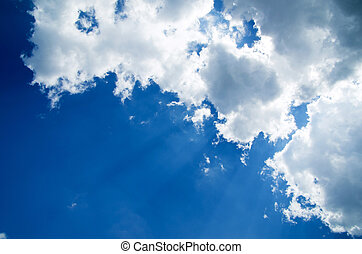 sky - Blue sky background with a tiny clouds
