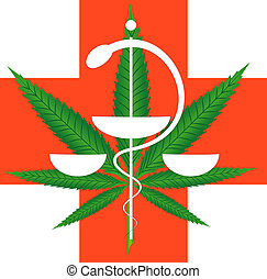 Marijuana for medical use - Illustration of marijuana leaf...