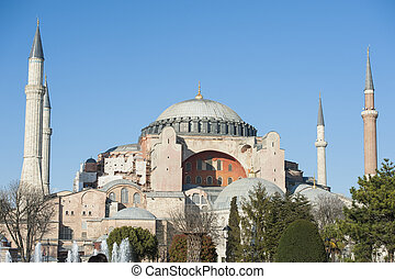View of the Hagia Sophia in Istanbul Turkey - View of the...