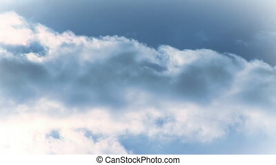 Clouds Time Lapse 3 - Stock Video Footage of a Cloud time...