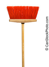 mop - Beautiful red mop on a white background