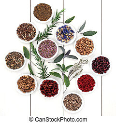 Herbal Medicine - Herbal medicine selection also used in...