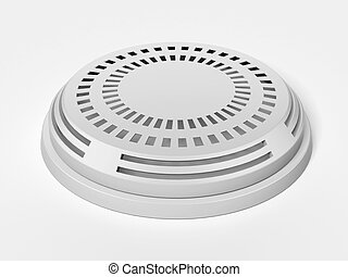 smoke detector  isolated on a white background. 3d render