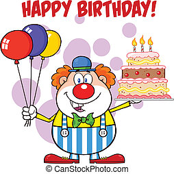 Happy Birthday With Clown