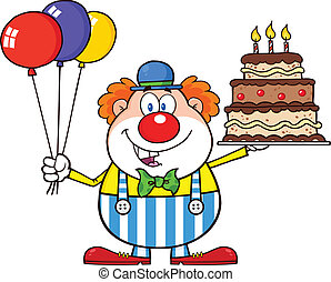 Birthday Clown With Balloons