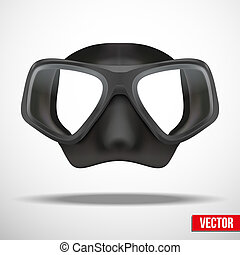 Underwater diving scuba mask vector - Underwater diving...