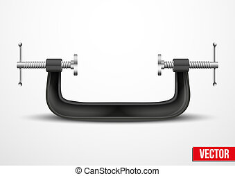 Large clamp compression tool. Conceptual vector