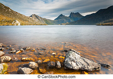 Cradle Mountain and Dove Lake in Lake St Clair National...
