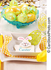 easter table - table decoration for easter time
