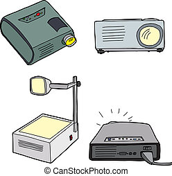 Overhead Projectors - Various overhead and digital...