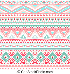Tribal ethnic seamless stripe pattern. Vector illustration...