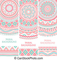 Tribal ethnic vintage banners. Vector illustration for your...