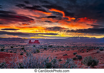 Sunrise in the Utah Desert