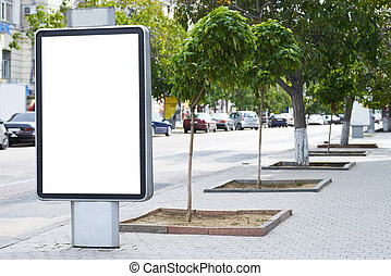 Blank billboard - Vertical blank billboard on the city...