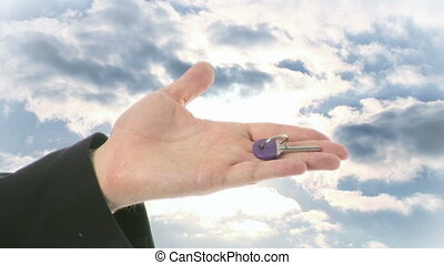 Key to the Future - Stock Video Footage of a person Holding...